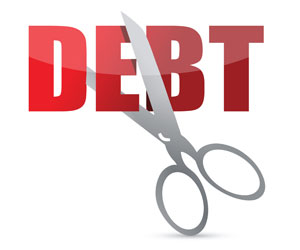 Scissors-cutting-debt